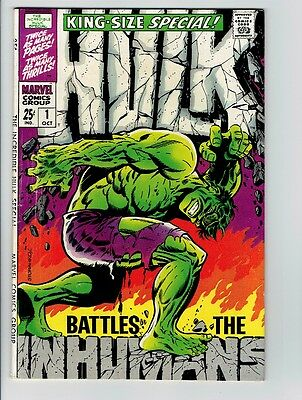 Incredible Hulk King Size Annual 1 Classic Steranko Cover Silver Age Key F/F+