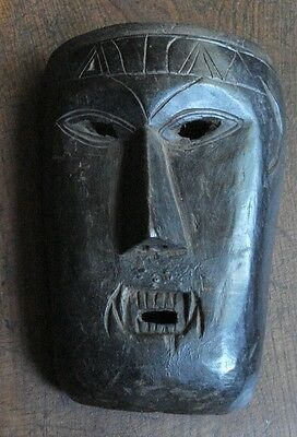 Vintage Nepal middle hills village mask with fangs