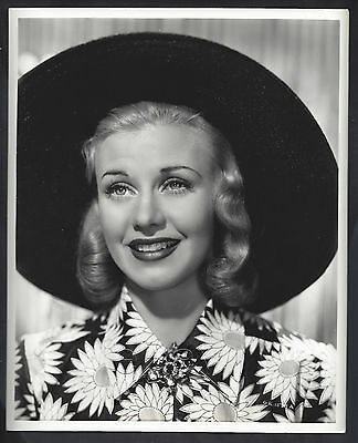 Original 1939 pretty GINGER ROGERS RKO close-up flower fashion hat John Miehle