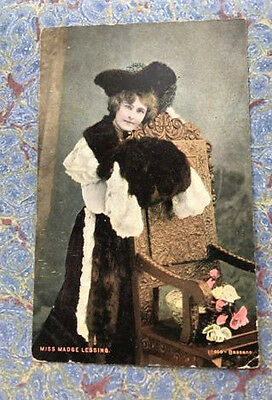 Miss Madge Lessing Vintage Actress Postcard