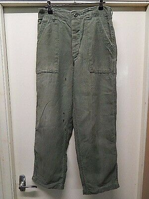 "Vietnam War - Us Army - Original Type 1 Utility Trousers - 30"" X 28"" - #47"