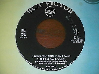 ELVIS PRESLEY follow that dream EP 45 giri italy promozionale