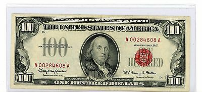 1966 $100 Red Seal Currency Note