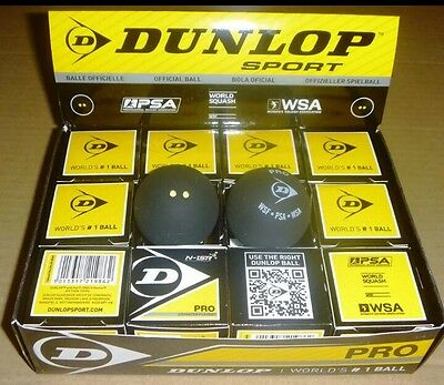 12×Dunlop squash ball double dots