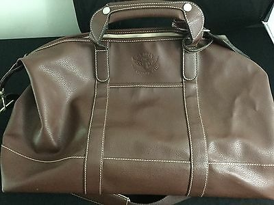 Olympic Club 2012 US Open Pebbled Brown Leather Duffle Captains Bag - NWOT