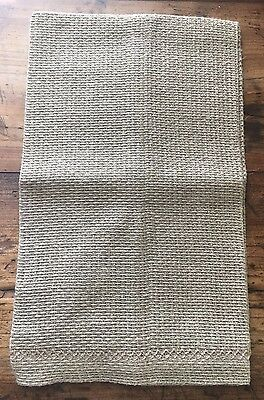 Anichini Open Weave Natural Linen Hand Towel