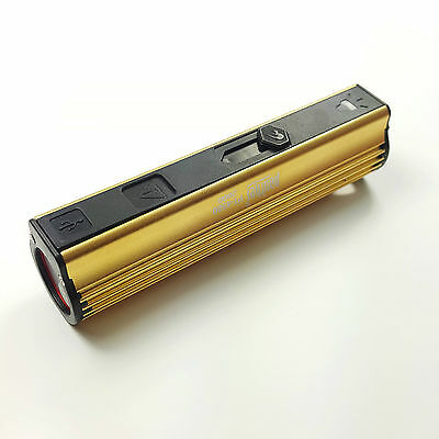 LED Flashlight Cigarette Lighter USB Power Bank  Battery Aluminum Lamp Torch