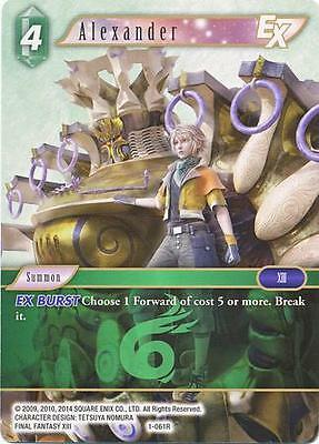 3 X Alexander (1-061R) Rare Card - Final Fantasy Tcg Opus 1 English