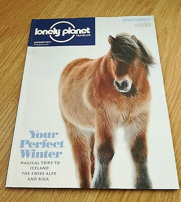 Lonely Planet Traveller Magazine January 2017 Swiss Alps Riga Namibia