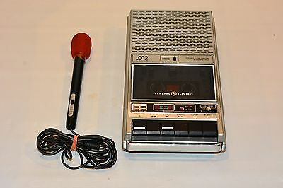 Vintage General Electric SS-2 Tape Cassette Recorder With Microphone