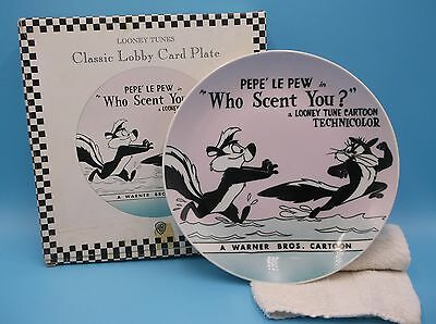 "Looney Tunes Classic Lobby Card Pepe Le Pew in  ""Who Scent You?"" Plate (1960)"