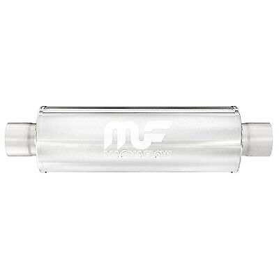 """Magnaflow 2.5"""" inlet outlet Resonator 10426 Stainless Steel 18"""" Body"""