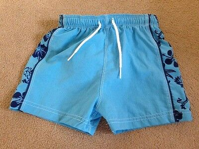 Mothercare Baby Boys Blue Swim Shorts with terry towelling pants insert- Medium