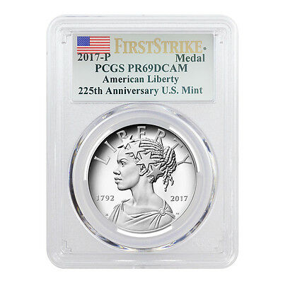 PRESALE - 2017 P 1 oz American Liberty High Relief Proof Silver Medal PCGS PF 69