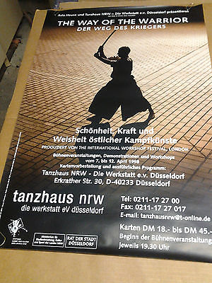 """The Way Of The Warrior"" ""Weg Des Kriegers""-Tanzhaus Dance 1998 Poster London VF"