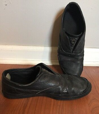 HUF Dylan Rieder Slip Ons Black Leather