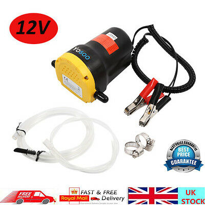 Hot 12V Fluid Extractor Oil Diesel Fuel Transfer Pump Siphon Car Motorbike Use