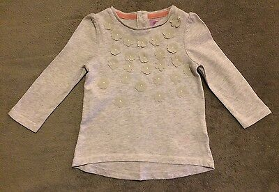 F&F Girls 6-9 Month Grey Long Sleeved Top