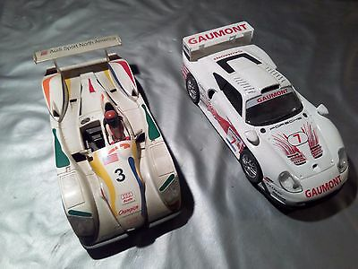 Lote 2 coches R8 scalextric y 911 fly