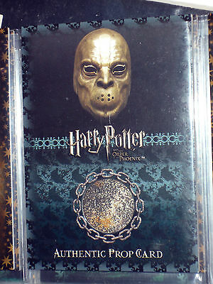 Harry Potter Order Of The Phoenix Ultra Rare Prop Card P2 Death Eater Mask /100