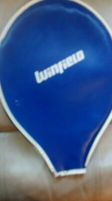 vintage Winfield  tennis racquet cover blue & white