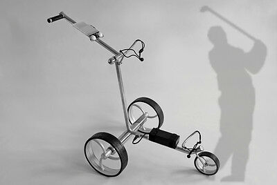 Elektro Golf Trolley - Edelstahl - PC 630 E High-Class Lithium -