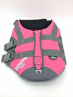 Dog Helios Outdoor Company Life Jacket Pink + Gray