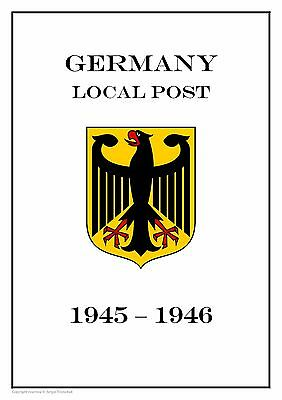 Germany Local Post 1945-1946 PDF (DIGITAL)  STAMP ALBUM PAGES