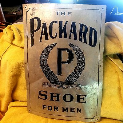 Antique Tin Packard Shoe Sign
