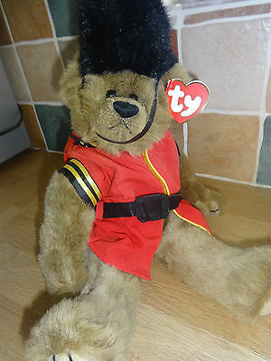 TY Beanie Attic Treasures MALCOLM Jointed Teddy Bear - Excellent Condition