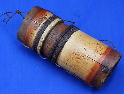 Vintage Bamboo Blow Pipe Dart Quiver / Holder - Borneo Philippines Tribal Weapon