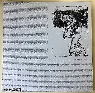 MNEMONISTS - Some Attributes Of A Living System LP 1^ St. Press DYS 02  MINT