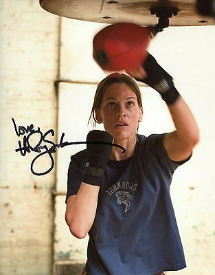 HILARY SWANK AUTOGRAPH SIGNED 8x10 PHOTO MILLION DOLLAR BABY COA