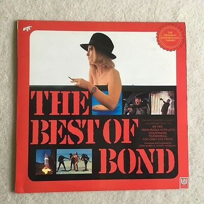 The Best of Bond vinyl lp soundtrack themes Ex-/Ex-