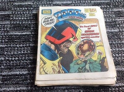 10 issues 2000AD FEATURING JUDGE DREDD 1986