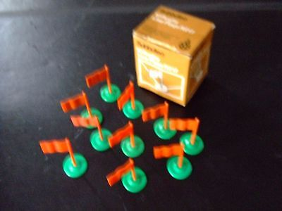 Subbuteo R217 RUGBY LINE FLAGS x 10 in the original box
