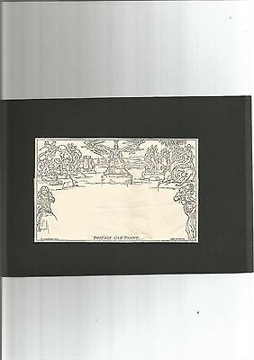 GB 1990 Mulready Lettersheet Reproduction by Royal Mail