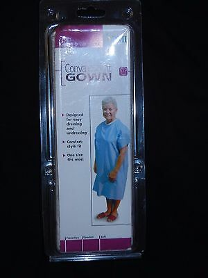 NEW DMI Convalescent Gown with Side Ties Diamond Print One Size