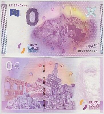 0 euro souvenir - LE SANCY (2015) billet touristique - France mountain