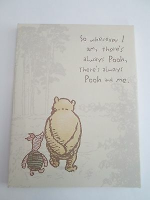 Classic Pooh Wall Hanging Picture 8.5 X 6.5 Winnie & Piglet