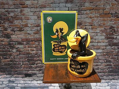 "New Rare 1997 Daffy Duck Looney Tunes ""Hey Who Ate All the Cookies?"" Cookie Jar"