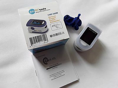 Finger pulse oximeter by accu-rate new in box