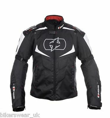Oxford Melbourne Black/wht Motorbike/Motorcycle Waterproof Textile Sports Jacket