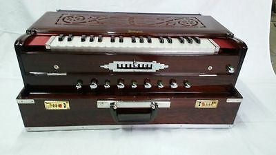 Buy Traveling Folding Scalechanger Harmonium Geetanjali 9 Scale~Teak Wood~3 Line