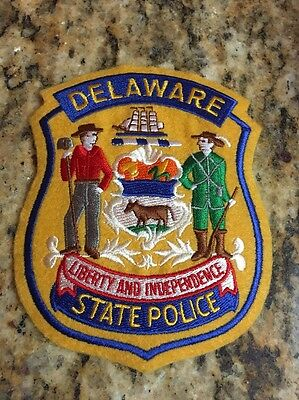 "Delaware State Police Patch 4""x5"" Liberty and Independence-New"