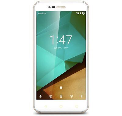 New Vodafone Smart Prime 7, 8GB-5 Inch Android 4G LTE Unlocked Smartphone WHITE