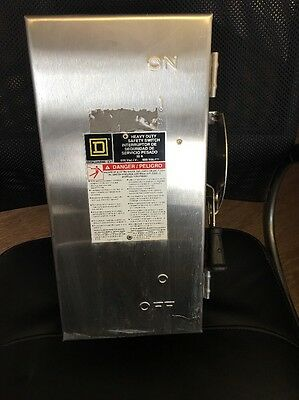 Square D 30 Amp 600V Heavy Duty Safety Switch HU361DS stainless steel