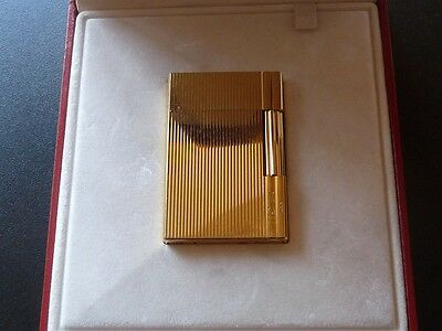 S T Dupont Gatsby Gold Plated Lighter - Boxed in Excellent Used Condition
