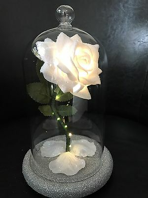 Beauty And The Beast Inspired Enchanted Rose Light White  WEDDING CENTRE PIECES
