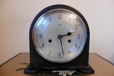 Fine Example Of A Vintage Enfield Striking Mantle Clock ( Working )